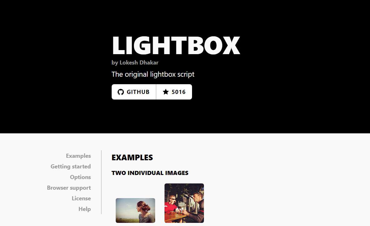 画像ギャラリーを作るならLightbox2